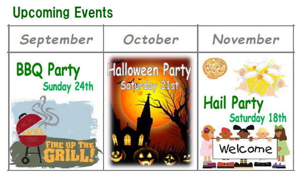 Upcoming Events.