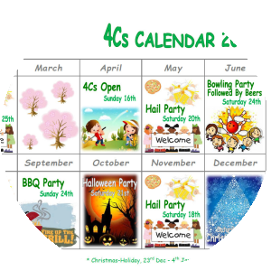 Image of 4Cs' calendar.